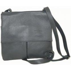 64cb3b2ed7 Vera Pelle kabelka kožená crossbody malá tmavě šedá alternativy ...