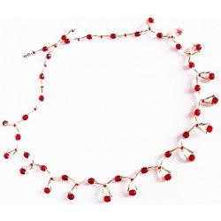 3ca15f2b7 Recenze Korálky Janka náhrdelník červeno stříbrné tyčky NR109 ...