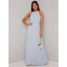 Chi Chi London dlouhé společenské šaty Morghan šedá 50f525009d