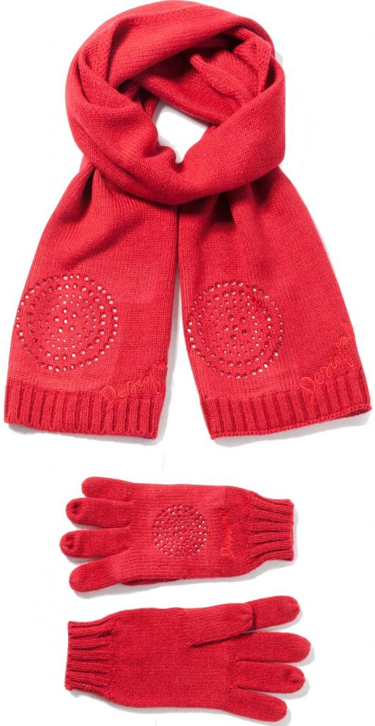 8967fbac566 Desigual červený set šály a rukavic Pack Basic alternativy - Heureka.cz