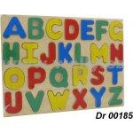 Dromader Dřevěná vkládací puzzle Abeceda