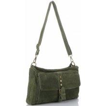 Vittoria Gotti kožená kabelka listonoška Zelená 989f2639d4e
