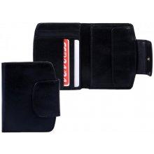 HELLIX Peněženka kožená P-605 černá,