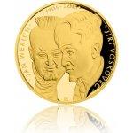 Česká mincovna Zlatá dvouuncová mince Voskovec a Werich 62,2 g