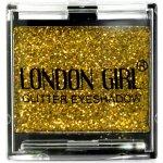 LONDON GIRL Flitrové oční stíny Mono Tmavě zlaté GLITTER Eyeshadow 16 4,5 g