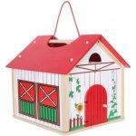 ECO TOYS Dřevěný domek, farma 14 dílků