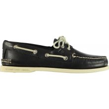 SPERRY Authentic Two Eye Leather Boat Shoes Navy