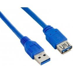 4World 08952 USB 3.0, A-A prodlužovací, 0,5m, modrý