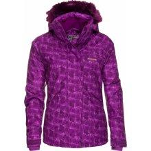 Envy AGUR III dámská lyžařská bunda fialová potisk