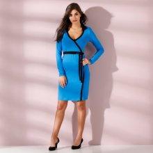 c7b57db9234c Blancheporte dvoubarevné šaty s překřížením modrá černá