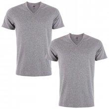 Levis Mens V Neck 2 Pack T Shirts Grey