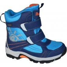 Bugga B00128-04 boty zimní 2 pásky nepromokavá membrána modrá 4eb6db9ae7