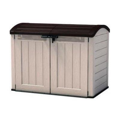 Zahradní úložný box STORE 120 x 146 x 82 cm - béžová / hnědá OEM R41437