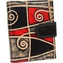 Nivasaža N6 SNT MG barevná dámská kožená peněženka