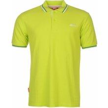 f5af20058f9a Slazenger Tipped Polo Shirt Mens Lime Green