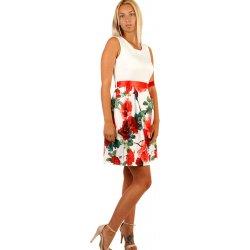 Romantické áčkové šaty s květinovým potiskem 234242 červená ... 1506c92d43
