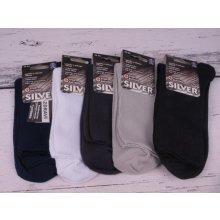Novia ponožky TM. ŠEDÉ dámské Silver antibakteriální 2961