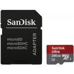 SanDisk microSDXC 256GB UHS-I U1 + adaptér SDSQUNI-256G-GN6MA