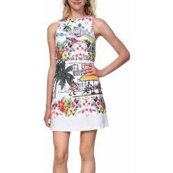 016b8501d8 Dámské šaty Desigual šaty Vest Anna s barevnými motivy bílá