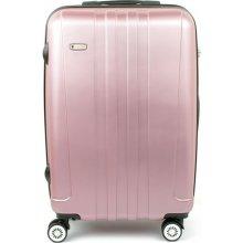 AIRTEX Worldline 602 malý skořepinový kufr 37x22x56, Světle růžová