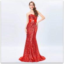 e7289c47f700 Grace Karin luxusní společenské šatydlouhé s vlečkou GK4409 červená