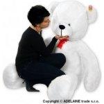 Plyšový Medvěd Baby Nellys Bílý 180 cm