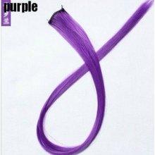 clip in vlasy, barevný klip, pramínek do vlasů v délce 50cm - fialový