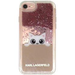 Pouzdro Karl Lagerfeld Peek a Boo Liquid Glitter iPhone 8 7 Béžová ... cc42a1d4adf