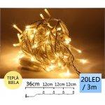 TFY NO34984 Vánoční LED osvětlení řetěz 20LED, 3m, teplá bílá