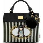 Santoro London Gorjuss kabelka Stripes Rosie černá/bílá/fialová