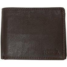 Kabana kožená peněženka z tmavě hnědé jemné kůže