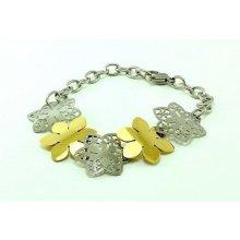 Decus Květinový náramek z oceli 3020428