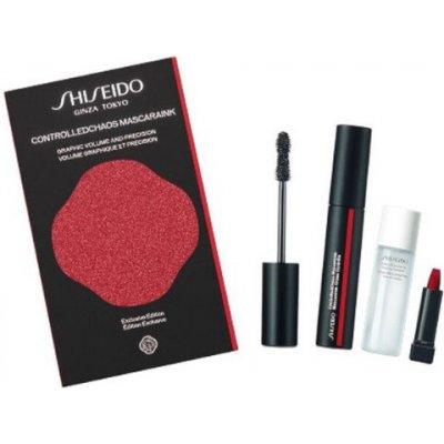 Shiseido Dárková sada dekorativní kosmetiky ControlledChaos MaskaraInk - Objemová řasenka ControlledChaos MascaraInk odstín 01 Black Pulse 11,5 ml Odličovač očí a rtů The Skincare (Instant Eye And Lip