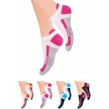 Steven dámské kotníkové ponožky s nápisem Speed tyrkys d0c421fac8