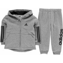 Adidas Klučíčí tepláková soupravička šedá
