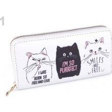 Stoklasa Dámská peněženka kočka 10x19 cm 1 bílá kočka 6ed0a98a85