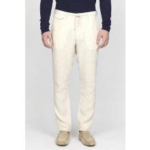 Gant Pánské Kalhoty GANT O2. RELAXED LINEN CHINO bílá