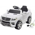 VidaXL elektrické dětské auto Mercedes Benz ML350 bílé 6 V