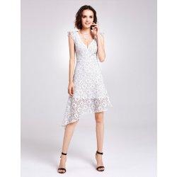 Dámské šaty Alisa Pan krajkové šaty s asymetrickou sukní AS05901WH bílá 96d7bad21d
