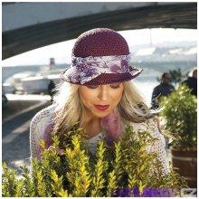 Karpet Dámský papírový klobouk zdobený šifonem bílá 202400 176f594d02