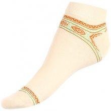 TopMode dámské kotníkové ponožky se vzorem 92PY40 žlutá