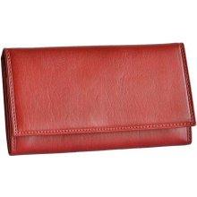 Hellix kožená peněženka P 1208 rámková červená