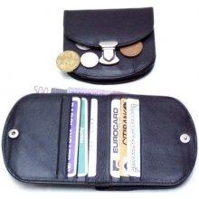 Arwel Malá dámská kožená peněženka 511 1241 se zámečkem černá
