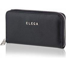 Samara Saffiano Dámská peněženka černá / stříbrné kování DK-071