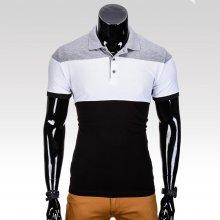 Pánské tričko s límečkem Slices černé