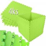 EVA pěnový koberec 60x60cm zelená 4 ks