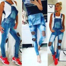 3c81d97052d V V Dámské laclové jeans s aplikací