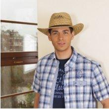 Pánský slaměný klobouk s koženým páskem barva originál 78e093f3e0