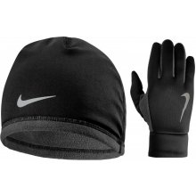 Nike Men S Run Thermal Hat And Glove Set black Anthracite Silver 66bdd0d6fc