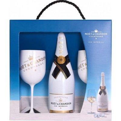 Moët & Chandon ICE Imperial v dárkovém balení se dvěma skleničkami, 0,75l